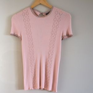 Chanel Pink Tops Made In Italy